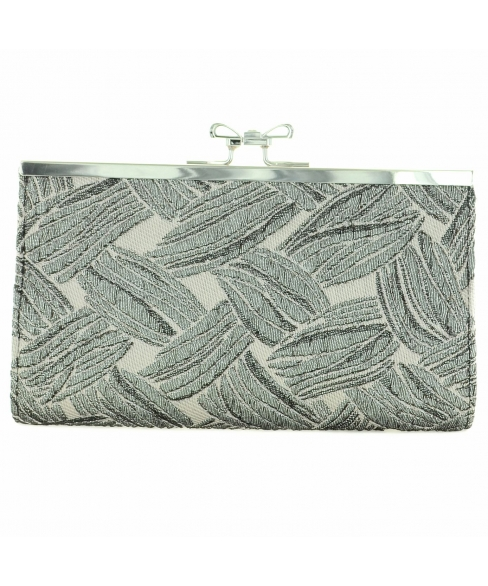 Crystal-embellished Bow Top Palm Clutch