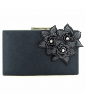 Elegant Flower-embellished Clutch