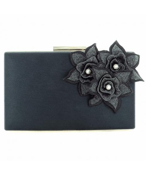 Elegant Flower-embellished Clutch