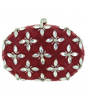 Hand Sewing Crystal Clutch