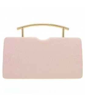 Glitter Metallic Top Handle Clutch