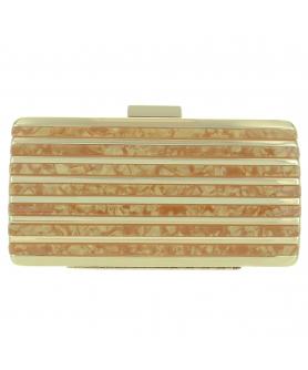 Marble Cut Acrylic Clutch, RED