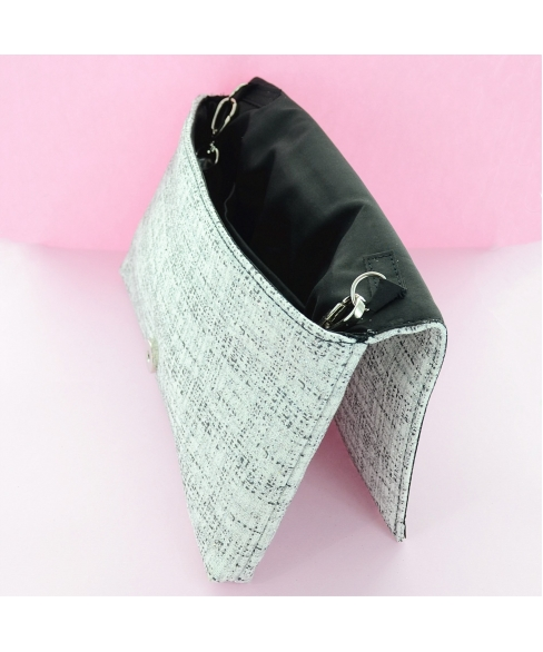 Glitter Metallic Envelope Clutch Bag