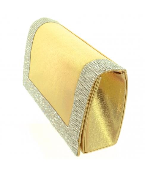 Glitter Crystal Frame Clutch