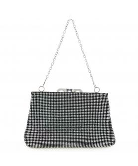 Women Rhinestone Crystal Mesh Clutch Bag