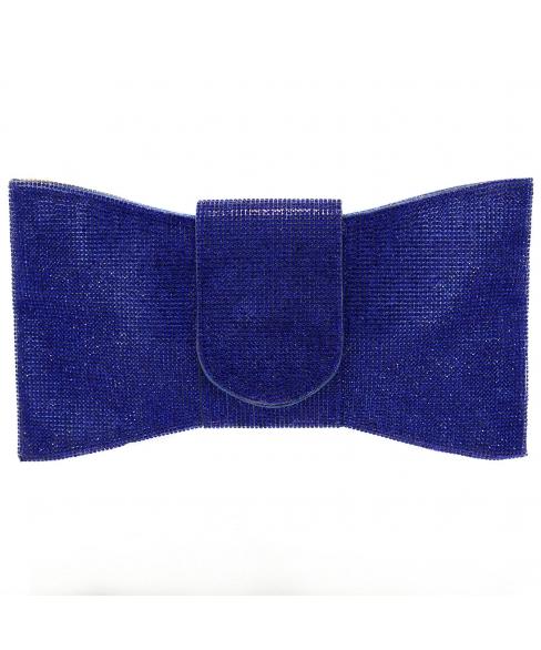 Crystal-Embellished Bow C, White