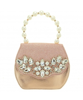 Pearl Handle Crystal Deco Purse