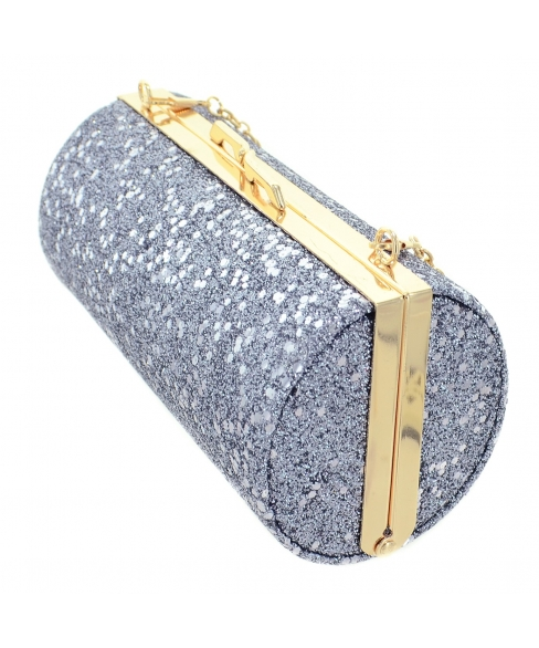 Glitter Cylinder Clutch