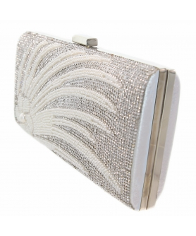 Crystal & Pearl Embellished Clutch