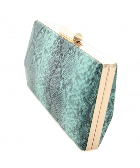 Python-embossed Clutch
